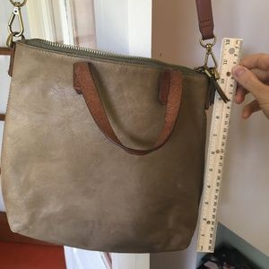 Madewell Leather Zip-Top Transport Crossbody Purse